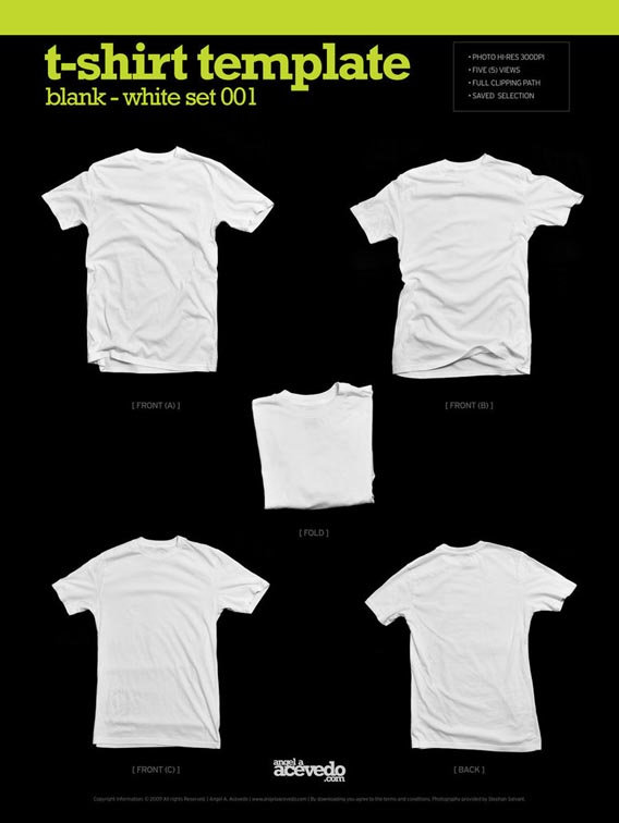 Blank_T_Shirt___White_001_by_djsoundwav 82 FREE T-Shirt Template Options For Photoshop And Illustrator