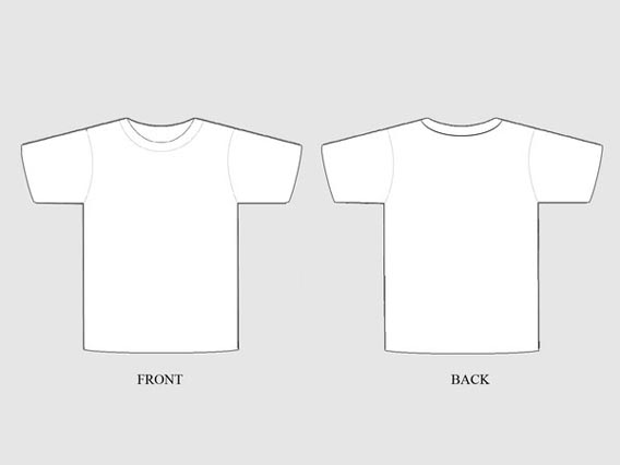 Blank Clothing Design Templates Customizable T shirt Template