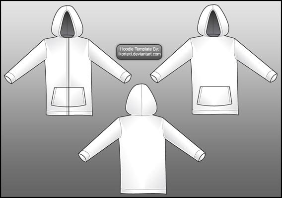 Hoodie_Template_by_IKorteXI 82 FREE T-Shirt Template Options For Photoshop And Illustrator