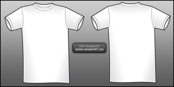 Shirt Template By IKorteXI 82 Free T Options For Photoshop And Illustrator
