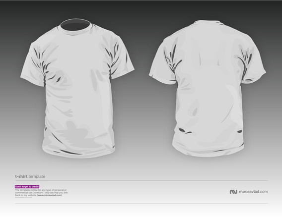 Download free TShirt vector template V2.0