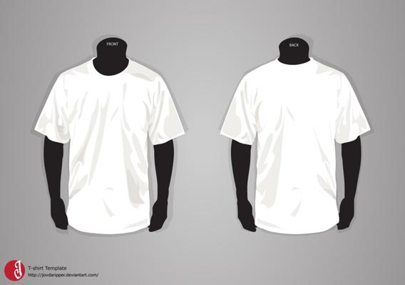 41 Blank T-Shirt Vector Templates Free To Download