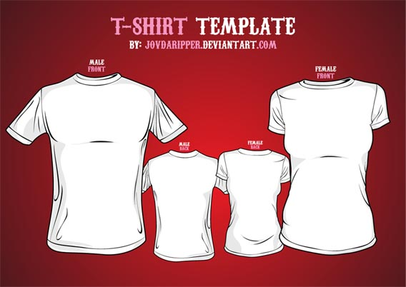 Vector_T_shirt_Template_by_JovDaRipper 82 FREE T-Shirt Template Options For Photoshop And Illustrator