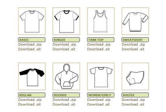 kraftmedia 82 FREE T-Shirt Template Options For Photoshop And Illustrator