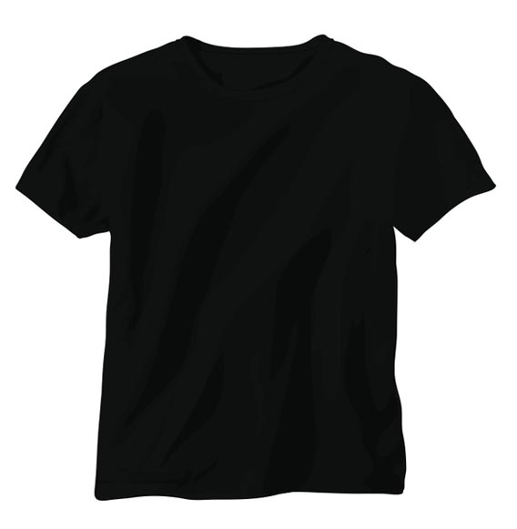 black t shirts template - photo #14