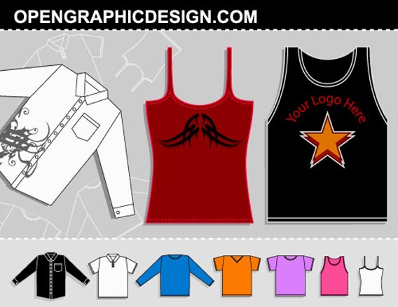 Download Free Vector T-shirt Graphics