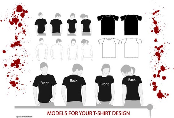 54 blank t shirt template examples to download vector and for T shirt design vector free download