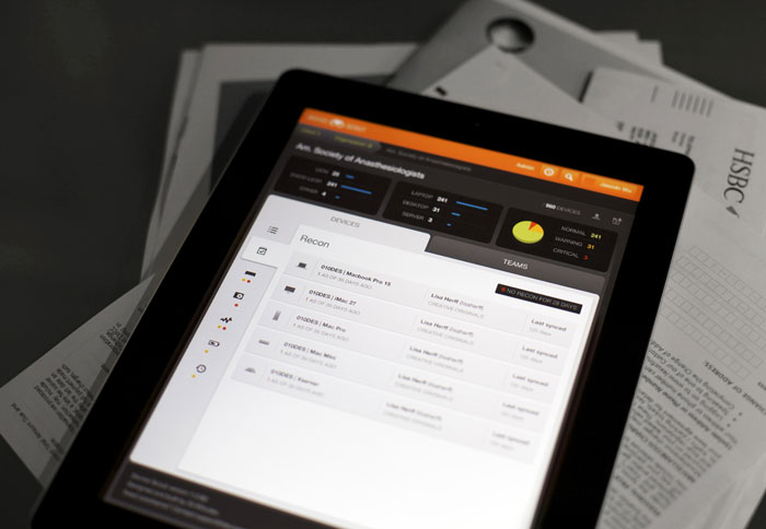 Device Dashboard - iPad - UI/UX/iOS User Interface Design Inspiration