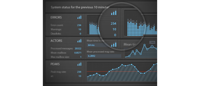 Stats Dashboard console - UI/UX User Interface Design Inspiration