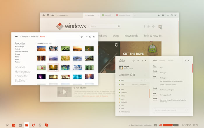 Windows UI Concept User Interface Design Inspiration
