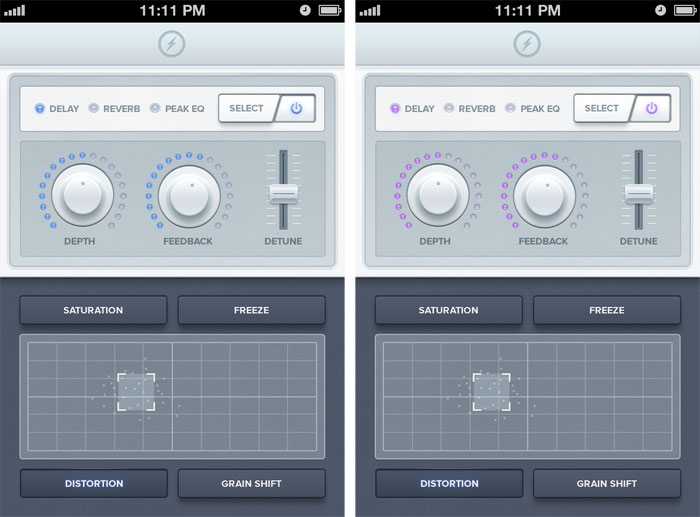 iPhone Synth App UI Remix User Interface Design Inspiration