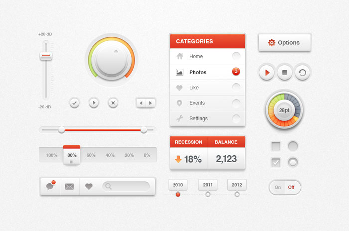 White Ui Kit User Interface Design Inspiration