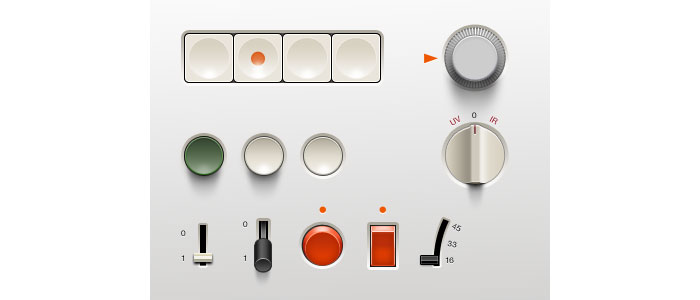 User Interface Design Inspiration - 45 Lovely Switches