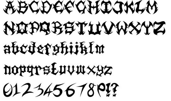 Death Metal Font free for download