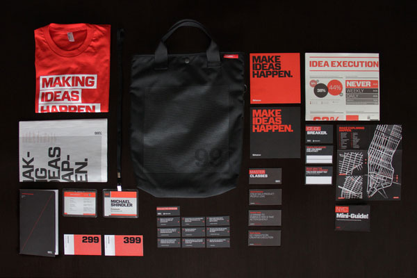 99% Conference 2012: Identity & Branded Materials Design Inspiration