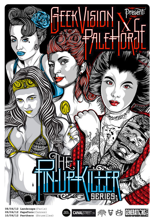 Pale Horse x Geek Vision: Pinup Killer Series Design Inspiration