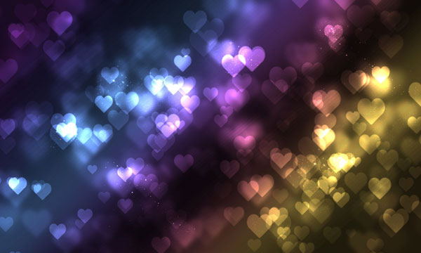 Heart bokeh Free to Download