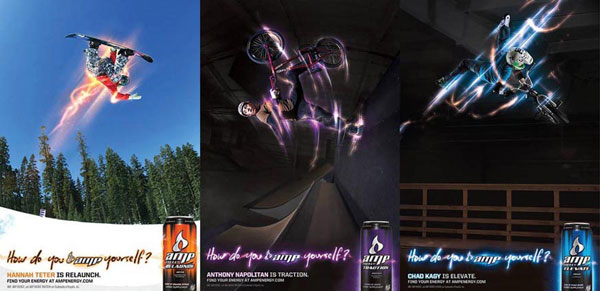 Amp Energy Drink Ads Graphic Design Inspiration