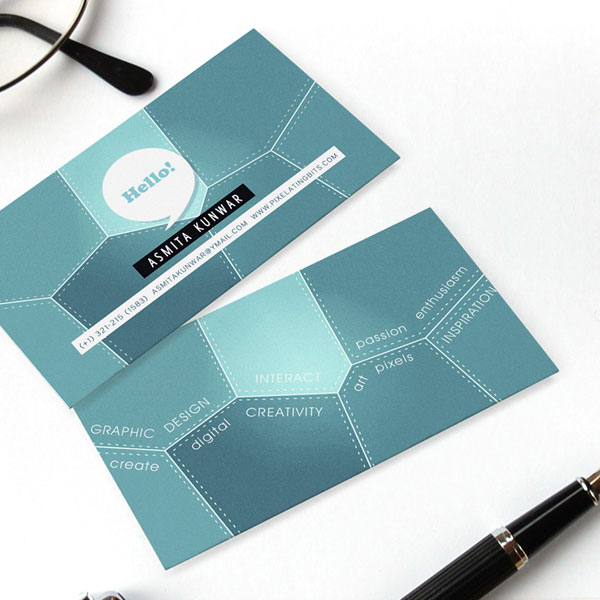 My personal business card Graphic Design Inspiration