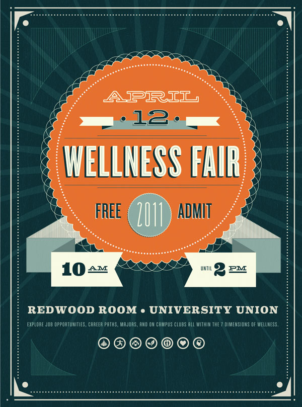 WELLNESS FAIR Graphic Design Inspiration