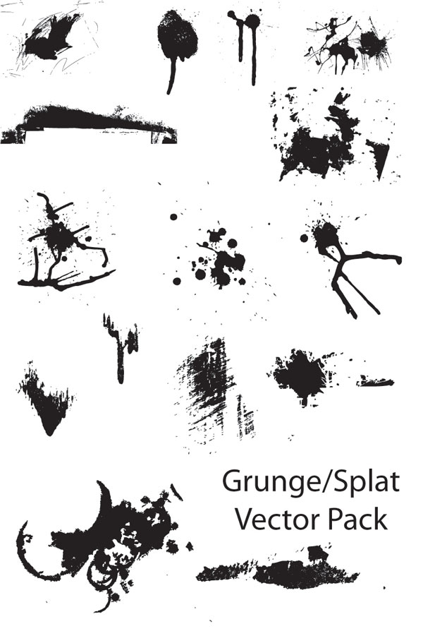 Grunge-Splat vector pack