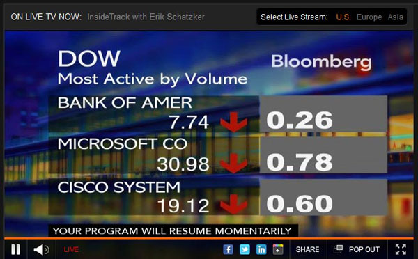 bloomberg.com Video Player Design Inspiration