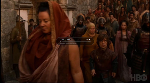 hbo.com Video Player Design Inspiration