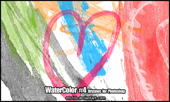 WaterColor .4. Brushes Pack