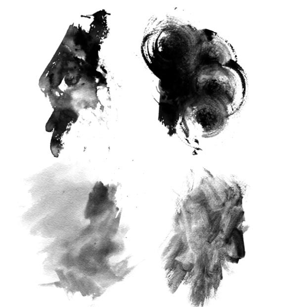 Free High-Res Photoshop Brushes: Grungy Watercolor