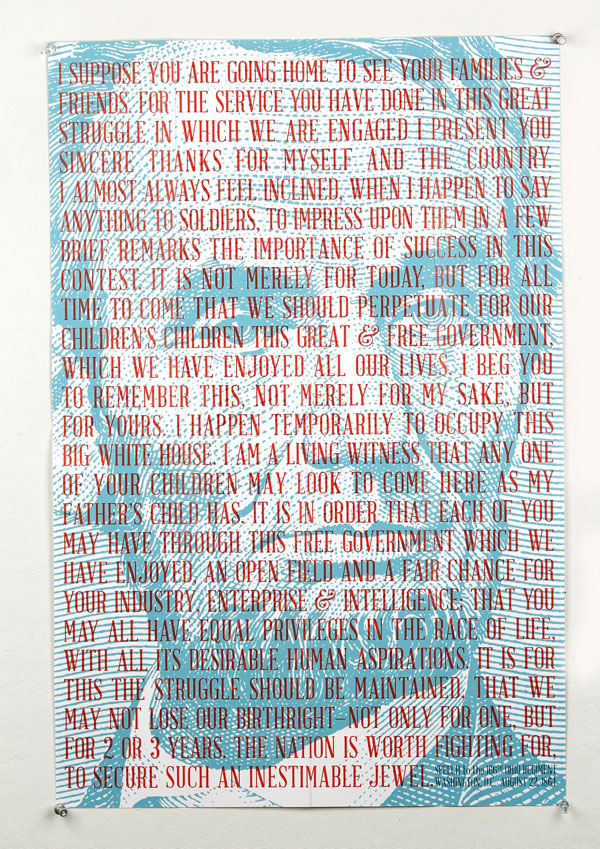 Abraham Lincoln Print Design Inspiration