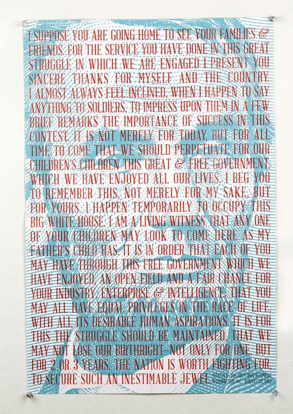 Abraham Lincoln Print Design Inspiration