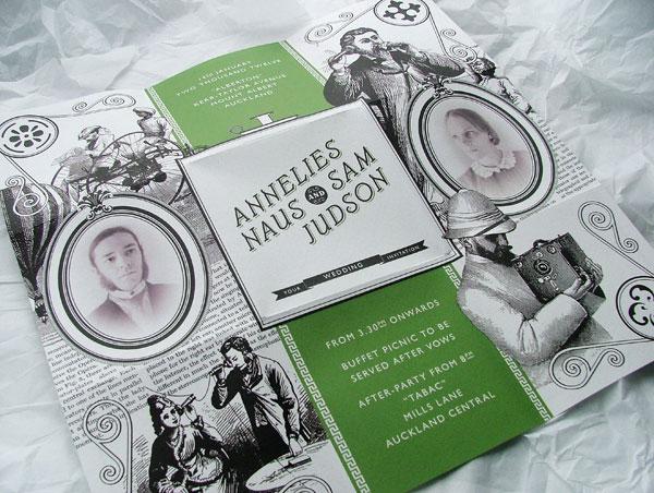 Annelies and Sam Wedding Invitation Print Design Inspiration