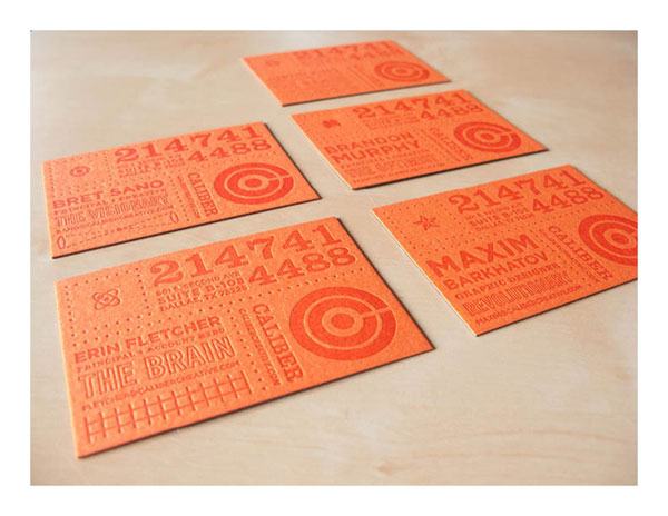 Caliber Creative Business Cards Print Design Inspiration