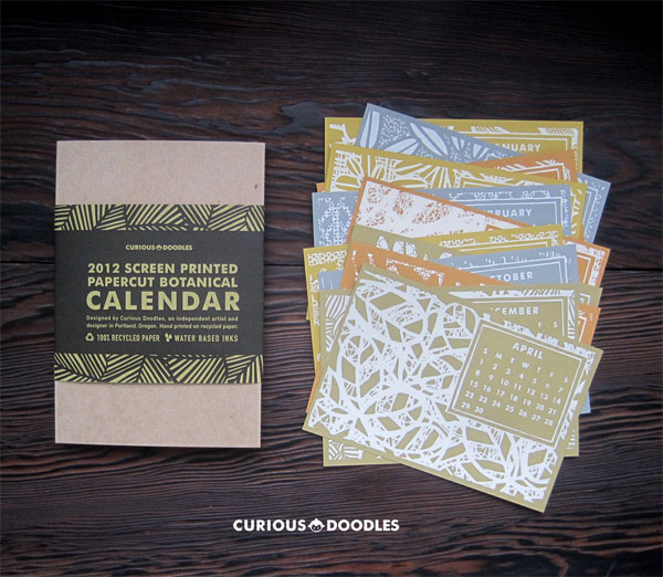 CuriousDoodles Desk Calendar Print Design Inspiration