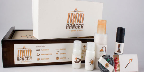 Iron Ranger Camping Kit Wood Package Design Inspiration