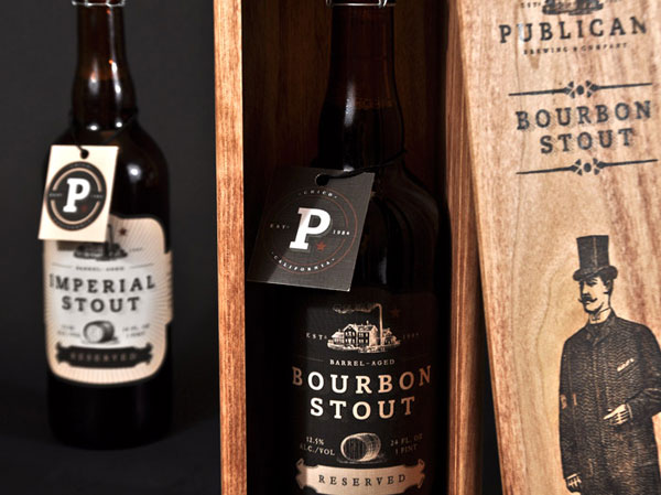 Publican Brewing Company Wood Package Design Inspiration