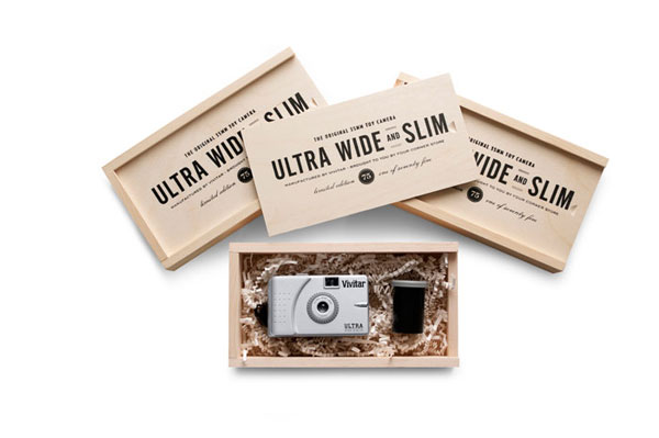 Vivitar Ultra Wide and Slims Wood Package Design Inspiration