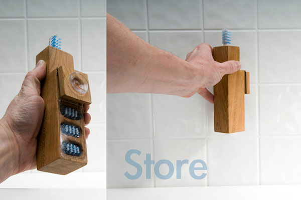 Wisdom Tooth Brush Wood Package Design Inspiration