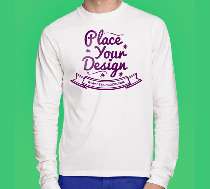 Free-white-tshirt-mockup-psd-front 82 FREE T-Shirt Template Options For Photoshop And Illustrator