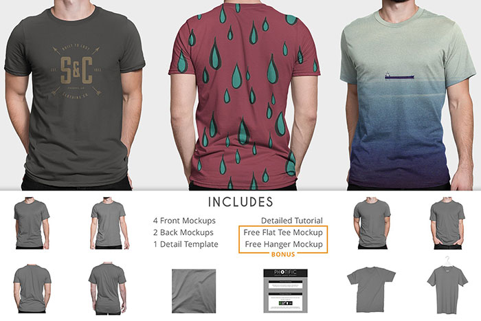 includes-new- 82 FREE T-Shirt Template Options For Photoshop And Illustrator