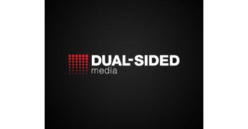 dual sided media logo