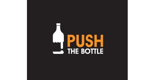 Push the bottle logo