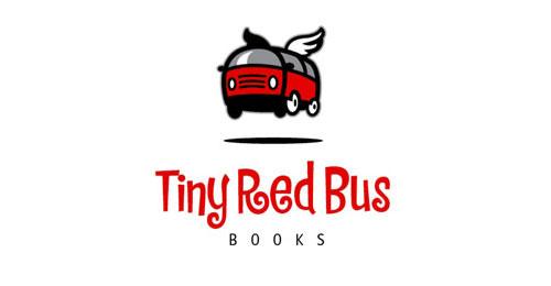 Tiny red bus logo