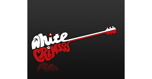 White crimson logo