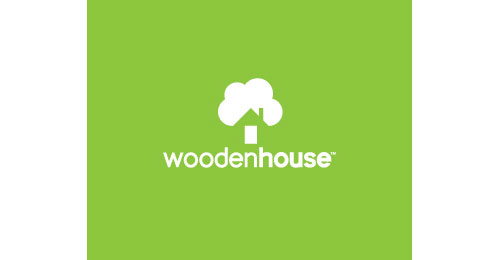 wooden house logo