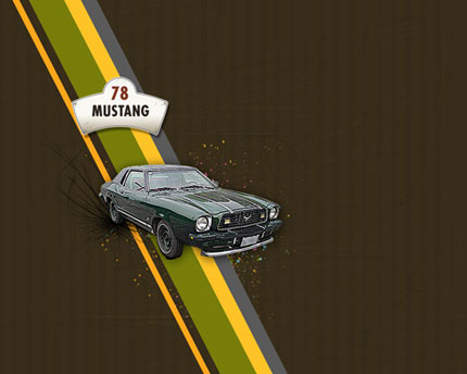 Ford Mustang Wallpaper Photoshop tutorial