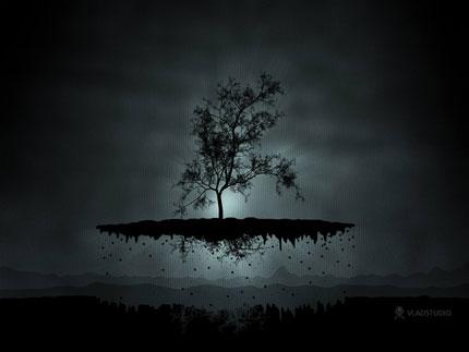 A Flying Tree Wallpaper