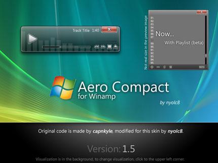 Aero Compact 1.5 Winamp skin