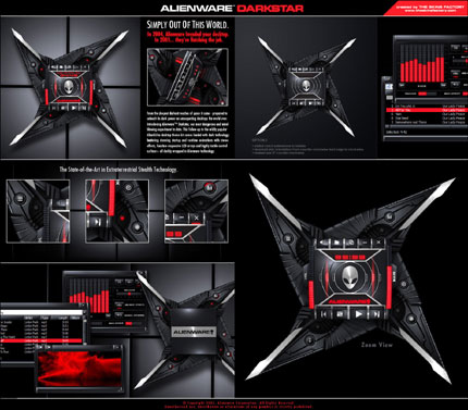 Alienware Darkstar Windows Media Player skin