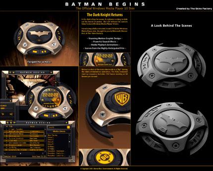Batman Begins Windows Media Player skin